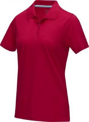 Damen Graphite Poloshirt aus GOTS Bio-Material-rot-XL