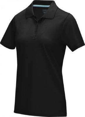 Damen Graphite Poloshirt aus GOTS Bio-Material-schwarz-XL