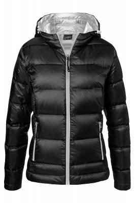 Damen Hooded Down Jacket JN1151-schwarz-XS