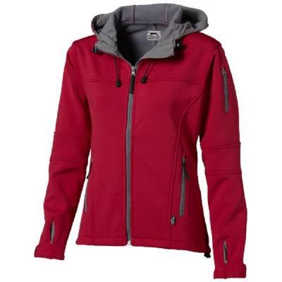 Slazenger Match Softshell Damen Jacke - rot - grau - XL