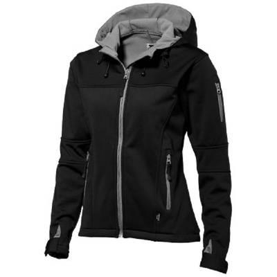 Slazenger Match Softshell Damen Jacke - schwarz - grau - M