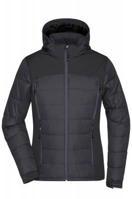 Damen Outdoor Hybrid Jacket JN1049-schwarz-XL