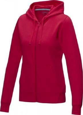 Damen Ruby Hoodie mit Reißverschluss Bio Material-rot-XL