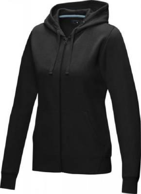 Damen Ruby Hoodie mit Reißverschluss Bio Material-schwarz-XL