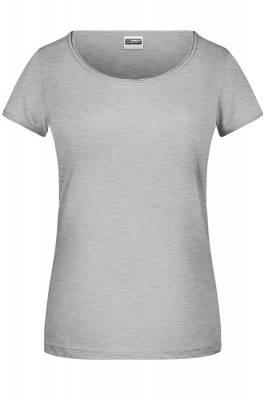 Damen T-Shirt 8001-grau(heathergrau)-S