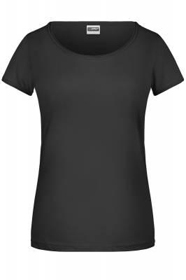 Damen T-Shirt 8001-schwarz-XL