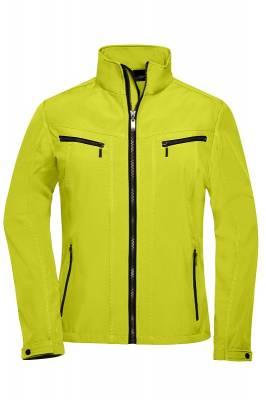 Damen Tailored Softshell JN1057-gelb-XL