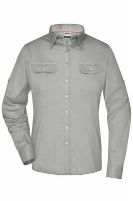 Damen Travel Bluse Roll-up Sleeves JN605