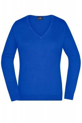 Damen V-Neck Pullover JN658-blau(royalblau)-XS