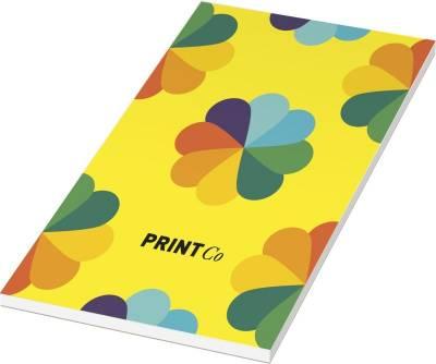 Desk-Mate 1/3 A4 Notizblock mit Wickelumschlag-weiß-50 Blatt