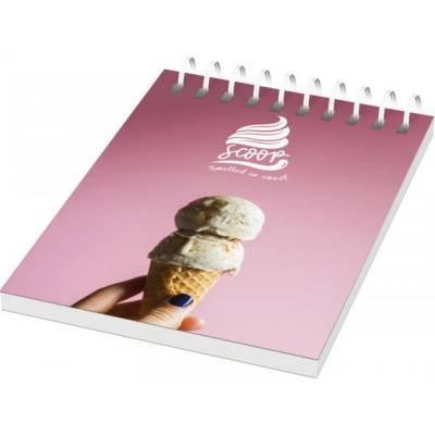 Desk-Mate A7 Notizbuch mit Kunststoff Cover und Spiralbindu-weiß-50 Blatt