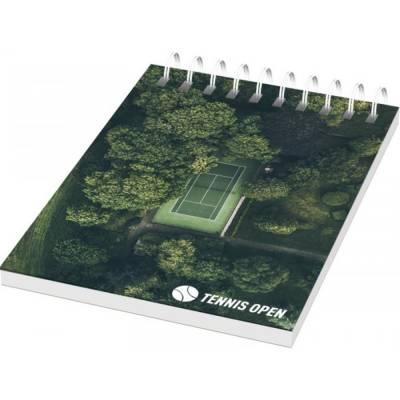 Desk-Mate A7 Notizbuch mit Spiralbindung-weiß-50 Blatt