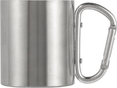 Doppelwandiger Kaffeebecher Carbine aus Edelstahl (200 ml)-silber
