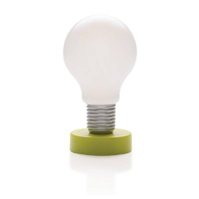 drucklampe gl hbirne gr n als werbegeschenke mit logo. Black Bedroom Furniture Sets. Home Design Ideas