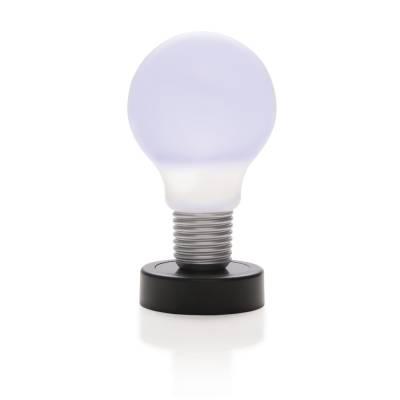 drucklampe gl hbirne schwarz als werbegeschenke mit logo. Black Bedroom Furniture Sets. Home Design Ideas