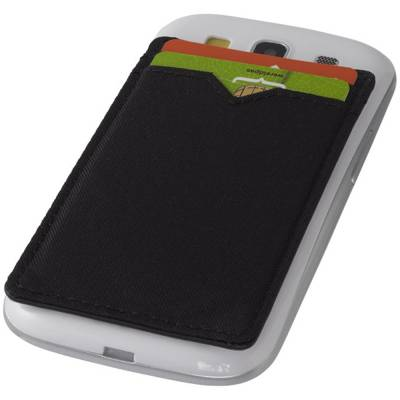 Dual Pocket RFID Telefon Kartenetui-schwarz
