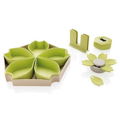 ECO 4-tlg. Küchenset Altena aus Weizen-grün