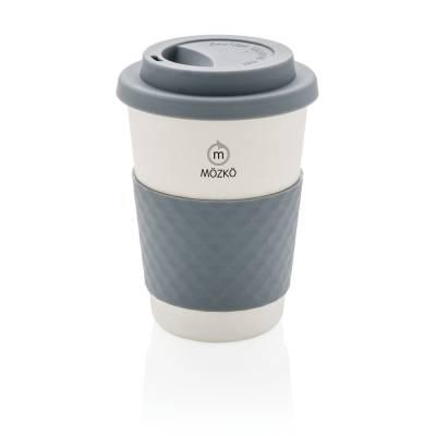 ECO Kaffeebecher aus Bambusfaser - grau