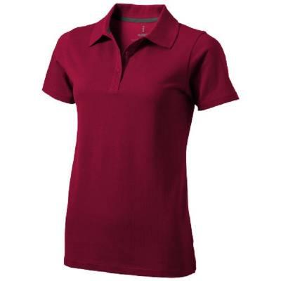 Seller Damen Kurzarm Poloshirt-rot(bordeauxrot)-XL
