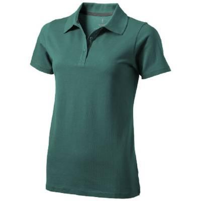Seller Damen Kurzarm Poloshirt-grün(dunkelgrün)-S