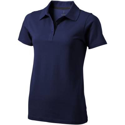 Seller Damen Kurzarm Poloshirt-blau(navyblau)-XS
