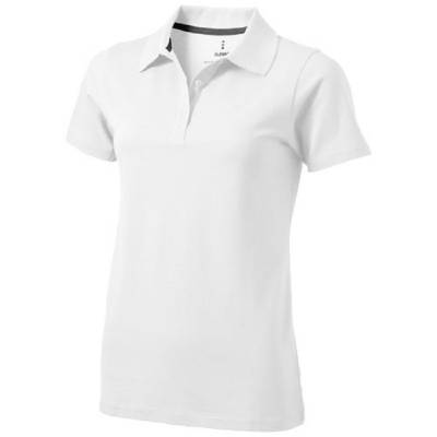 Seller Damen Kurzarm Poloshirt-weiß-M