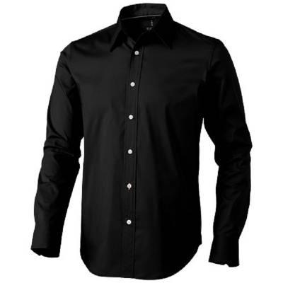 Hamilton Langarm Hemd-schwarz-XL