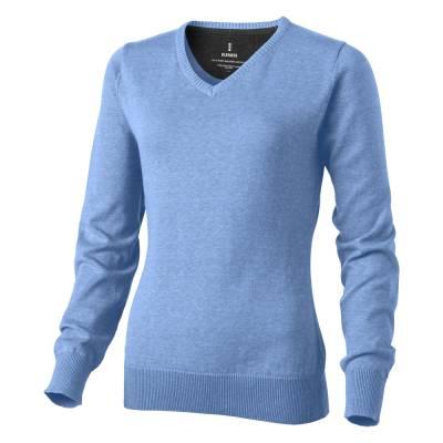 Spruce Damen Pullover mit V-Ausschnitt-blau(himmelblau)-XS