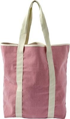 Einkaufstasche Natural-rosa