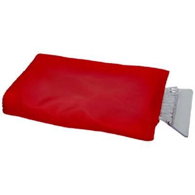 Eiskratzer mit Handschuh - rot