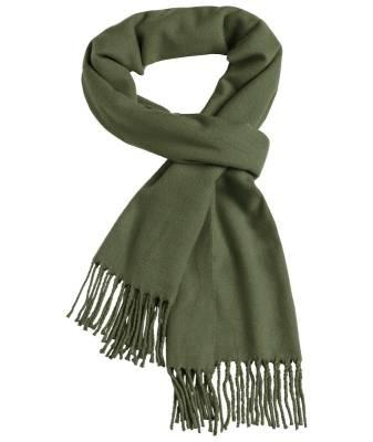 Eleganter Webschal Favio-grün(olivgrün)-one size-unisex