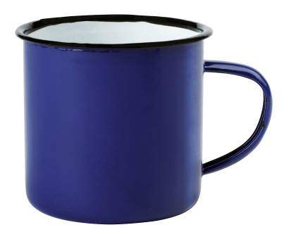 Emaille Becher RETRO CUP - blau