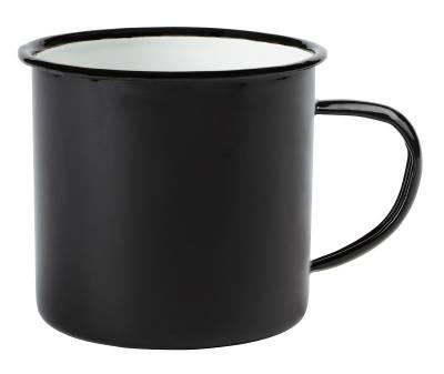 Emaille Becher RETRO CUP - schwarz