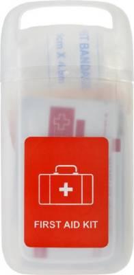 Erste-Hilfe Set Doc in einer transparenten Hülle