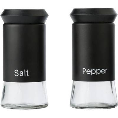 Essig- und Ölbehälter (300 ml) und Salz- und Pfefferstreuer-schwarz