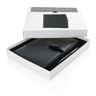 Executive Notizbuch mit USB-Stick 8GB - schwarz