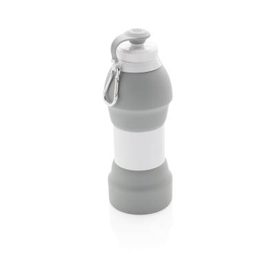 Faltbare Silikon-Sportflasche Solms-grau