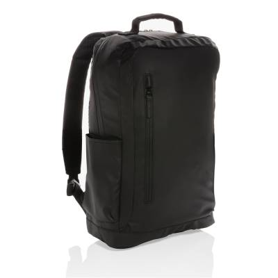 Fashion schwarzer 15.6 Zoll Laptop-Rucksack PVC-frei-schwarz