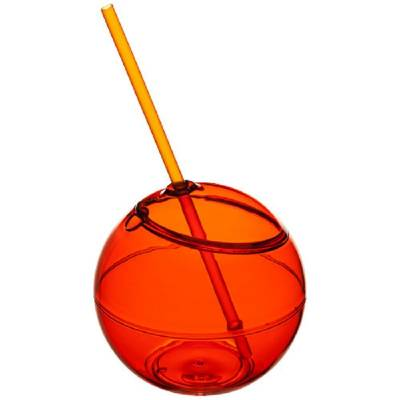 Fiesta Trinkball und Strohhalm-orange