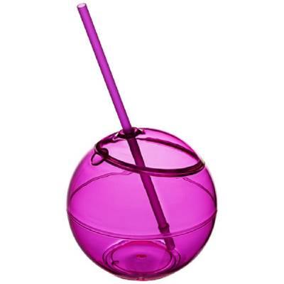 Fiesta Trinkball und Strohhalm-rosa
