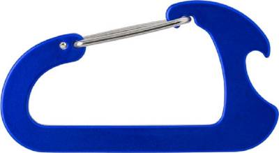 Flaschenöffner Shackle aus Aluminium-blau(kobaltblau)