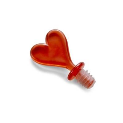 Flaschenverschluss Herz, transparent