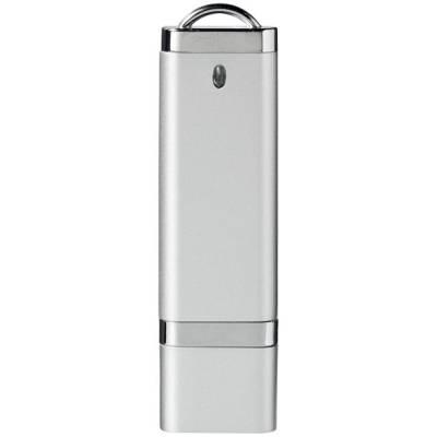 Flat USB Stick-silber-4GB