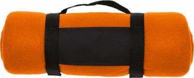 Fleece-Picknickdecke Englischer Garten-orange