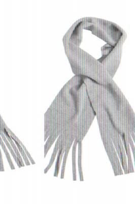Fleece Schal Barry mit Fransen-grau(hellgrau)-one size-unise