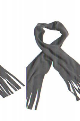 Fleece Schal Barry mit Fransen-schwarz-one size-unisex