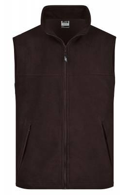 Fleece Weste JN045-braun-XL