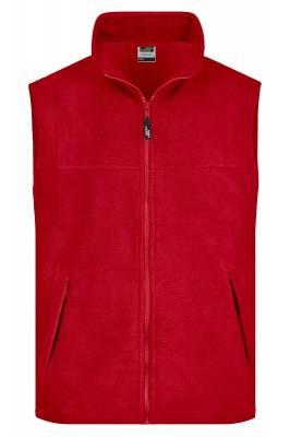 Fleece Weste JN045-rot-XL