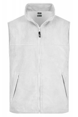 Fleece Weste JN045-weiß-XL