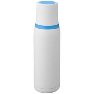 Flow Vakuum Isolierflasche-weiß-blau